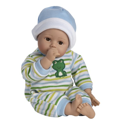 Adora アドラ ベビードール 赤ちゃん 人形 Playtime Baby Doll 13インチ Baby Boy Light Brown Skintone Brown Eyes Blue Green And White Romper With Matching Hat