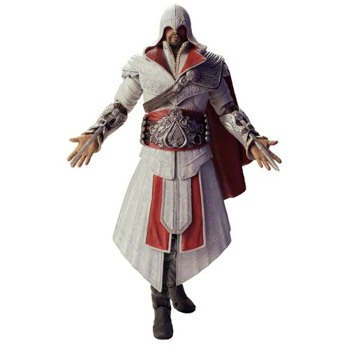 Assassins Creed アサシンクリード フィギュア Ezio Ivory Hooded 7インチ Action Figure Series 2