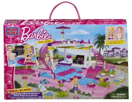 Mega Bloks メガブロック バービー プールパーティー Barbie Pool Party