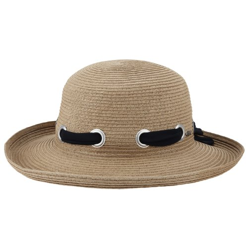 Greg Norman グレッグ・ノーマン レディース リボン ストローハット Women's Ribbon Straw Hat, Natural, One Size