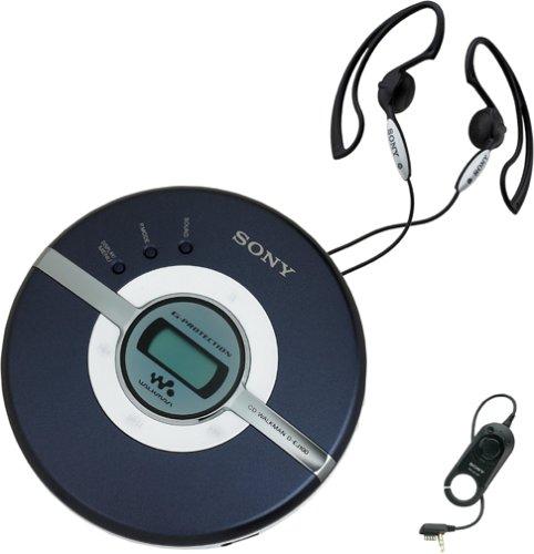 Sony ソニー CDウォークマン ブルー D-EJ100 Walkman Portable CD Player (Blue)