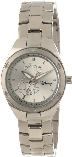 Disney ディズニー プーさん レディース腕時計 Women's W000492 Winnie The Pooh Stainless Steel Bracelet Watch