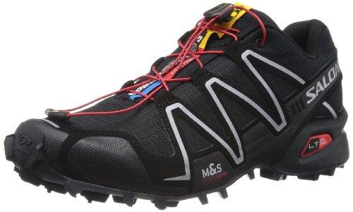 Salomon サロモン スピードクロス 3 メンズ トレイルランニングシューズ Men's Speedcross 3 Trail Running Shoe,Black/Black/Silver Metallic-X