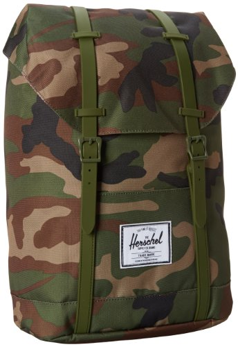 Herschel Supply Co. ハーシェルサプライ バックパック Retreat Rubber, Woodland Camo/Army, One Size