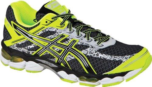 ASICS アシックス メンズランニングシューズ Gel-Cumulus 15 Lite-Show Running Shoe,Black/Onyx/Flash Yellow