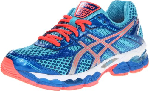 ASICS アシックス レディースランニングシューズ GEL-Cumulus 15 Running Shoe,Turquoise/Lightning/Electric Melon