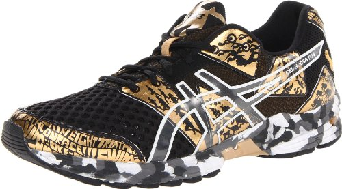 ASICS アシックス メンズランニングシューズ Gel Noosa Tri 8 GR Running Shoe,Black/Gold Metallic/White