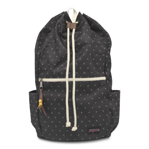 Jansport ジャンスポーツ バックパック Backpack Crossland Grey Denim Polka Dot T08T1J6