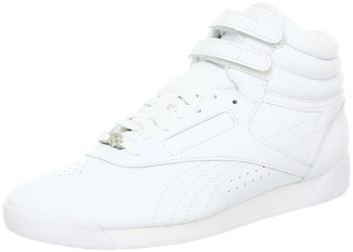 Reebok リーボック フリースタイル レディース ファッションハイカットスニーカー ホワイト Women's Freestyle Hi Lace-up Fashion Sneaker,White/White/White
