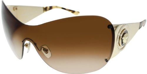 Versace ヴェルサーチ ベルサーチ サングラス 100213 Gold 2135B Visor Sunglasses Lens Category 2