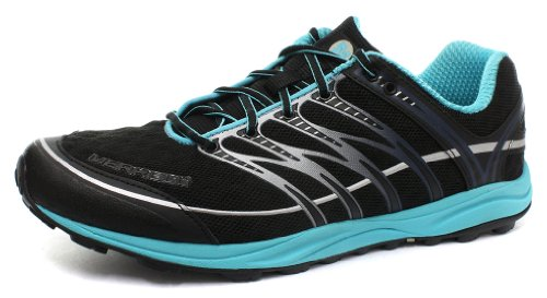 Merrell メレル メンズ ランニングシューズ ミックスマスター2 Mens Mix Master 2 Black/Blue Atoll Synthetic-And-Mesh Running