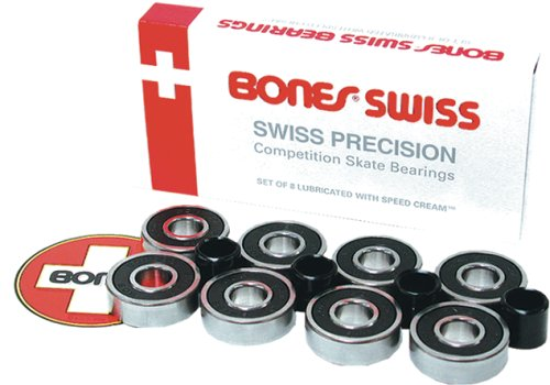 ボーンズ ベアリング スイス Bones Bearings Swiss Skate Bearings (7mm, 16-Pack)