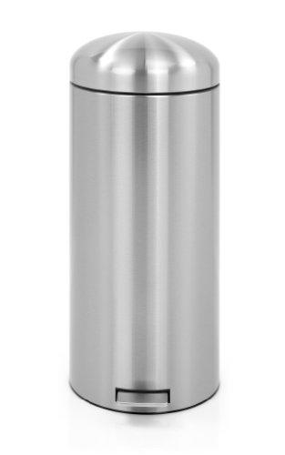 ブラバンシア 30L レトロ ペダルビン Brabantia 479366 Matte Steel Finger Print Proof Retro Pedal Bin 30-Liter 修理保証 銀婚式 粗品