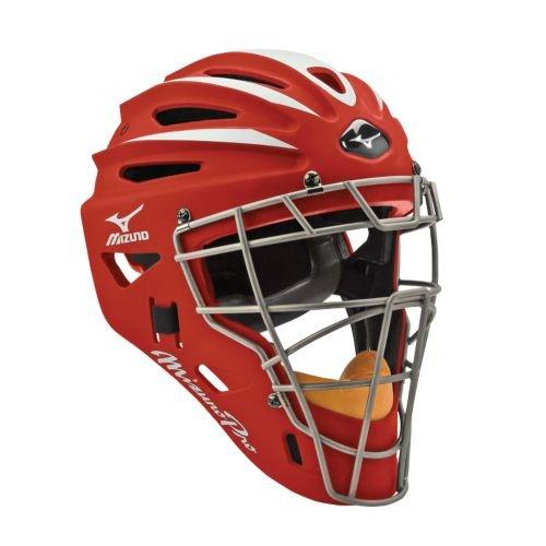 USAミズノ サムライ G2シリーズ 硬式用 キャッチャーマスク レッド Mizuno G2 Pro Catcher's Helmet, Red
