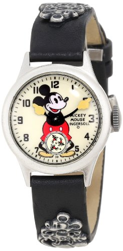 インガーソル ユニセックス ミッキーマウス 腕時計 Ingersoll Unisex IND 25833 Ingersoll Mickey Mouse 30's Collection Strap Mechanical Watch