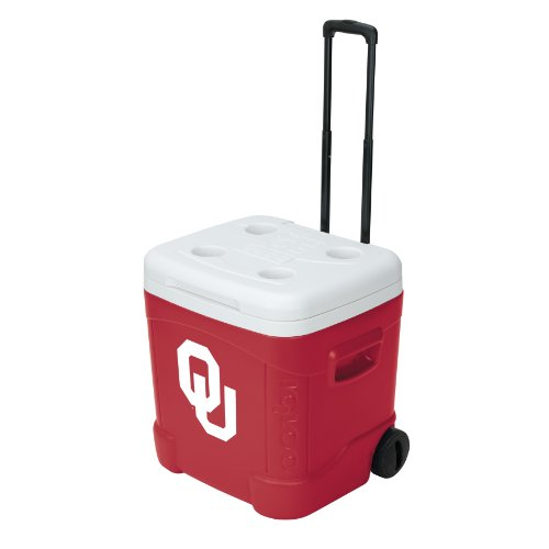 イグルー オクラホマ アイスキューブ クーラー 56.7リットル Igloo NCAA Oklahoma Ice Cube Roller Cooler (60 Quart, Red/White)