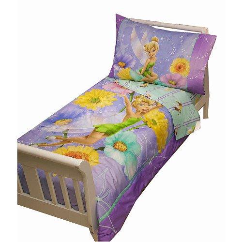 ディズニー ティンカーベル 寝具 4点セット Disney 4 Piece Toddler Set, Tinkerbell