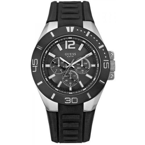 """ゲス 腕時計 メンズ Guess Men""""s Sporty Analogue Watch W12597G1 with Multidial Rubber Strap"""