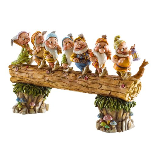 Disney Traditions by Jim Shore ディズニー トラディション ジム・ショア 白雪姫 7人の小人 4005434 Seven Dwarfs Walking Over Fallen Log Figurine 8-1/4-Inch