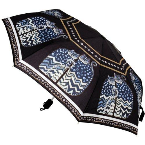 Laurel Burch ローレルバーチ 折り畳み傘 Compact Umbrella Canopy Auto Open/Close, 42-Inch, Polka Dot Cats