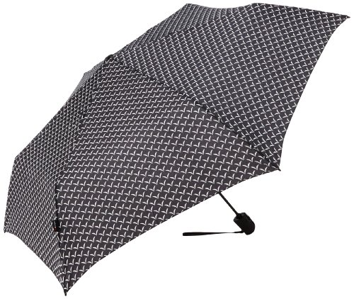 Knirps クニルプス 折りたたみ傘 Flat Duomatic Umbrella, Wings Black, One Size