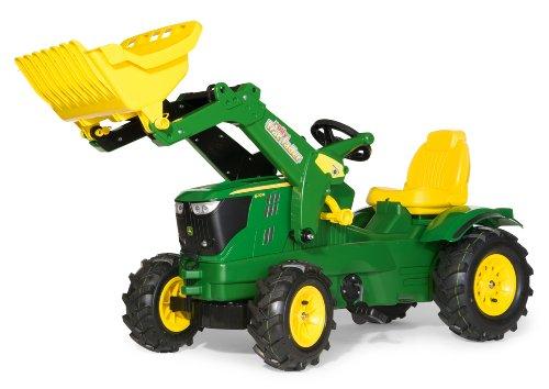 ロリートイズ トラクター フロントローダー ジョンディア ゴムタイヤ付き Rolly Toys John Deere 6210r Tractor with Frontloader and Pneumatic Tyres