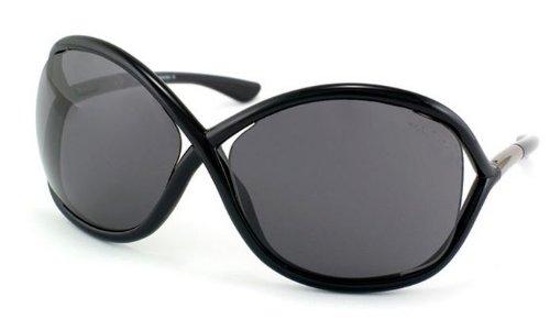 Tom Ford トムフォード サングラス WHITNEY TF09 Sunglasses SMOKE LENS / SHINY BLACK 199 64-14-110