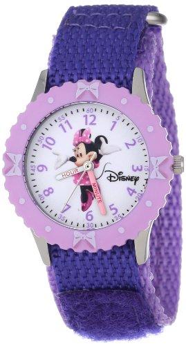 """ディズニー 腕時計 キッズ 時計 子供用 ミニー Disney Kids' W000026 Minnie Mouse """"Time"""