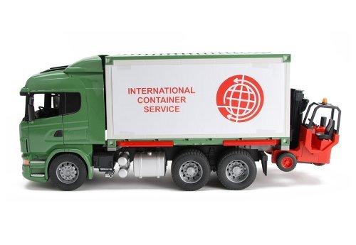 ブルーダー スカニア カーゴトラック フォークリフト Bruder Toys Scania R-Series Cargo Truck With Forklift Attached