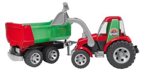 【2020春夏新作】 ブルーダー トラクター フロントローダー Bruder Bruder Tractor with ブルーダー Frontloader トラクター and Rear Tipper, イケマン:d5b094df --- kventurepartners.sakura.ne.jp