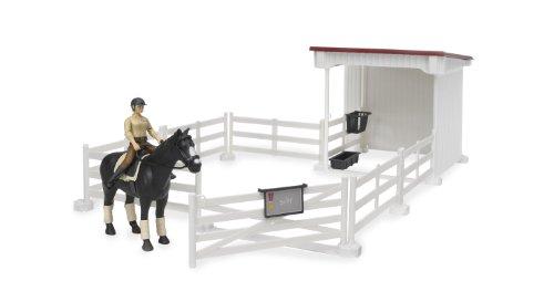 豪奢な ブルーダー 乗馬 and 馬小屋 Bruder 馬小屋 Small Horse Stable Small with Horse and Woman, White, タマク:6a0187eb --- bungsu.net