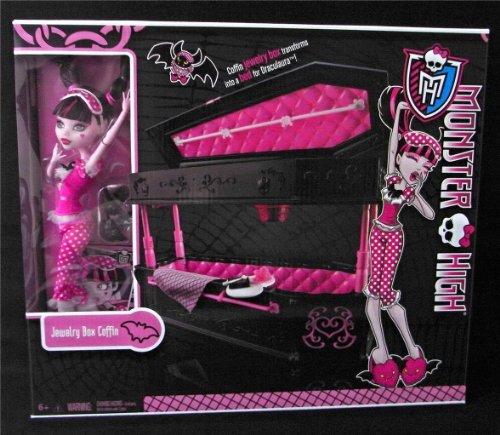 モンスターハイ 人形 ドール フィギュア ドラキュローラ ジュエリー ボックス セット Monster High Draculaura Doll & Jewelry Box Coffin Set