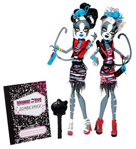 モンスターハイ 人形 ドール フィギュア ゾンビシェイク ミャウロディ パーセフォネ Monster High Zombie Shake Meowlody and Purrsephone Doll (2-Pack)