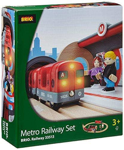 BRIO ブリオ 木製 レール メトロレールウェイセット 地下鉄 33513 Metro Railway Set