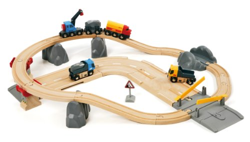 BRIO ブリオ 木製 レール ローディングセット 採石 33210 Rail and Road Loading Set