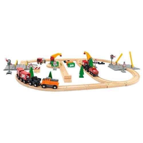 BRIO ブリオ 木製 レール リフト ロード 鉄道セット 33165 Lift and Load Railway Set