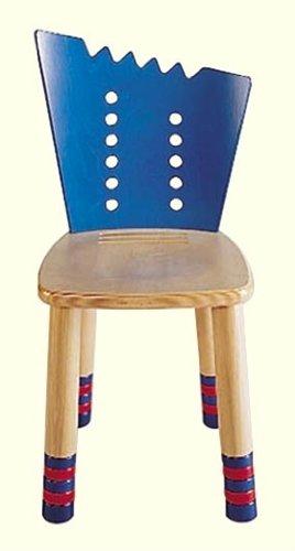 HABA ハバ社 木製 おもちゃ 知育玩具 イス Scribbelino Chair Blue Back