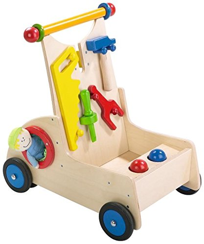 HABA ハバ社 木製 おもちゃ 知育玩具 手押し車 大工 Carpenter Pixie Walker Wagon