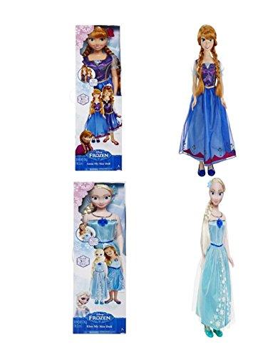 ディズニー ドール フィギュア 人形 アナと雪の女王 エルサ アナ Disney Frozen My Size Elsa and Anna Doll set exclusive 2 doll set!