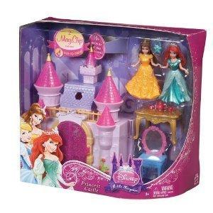 ディズニープリンセス ドール フィギュア 人形 ベル アリエル お城 Disney Princess Little Kingdom Castle and Doll Set By Mattel