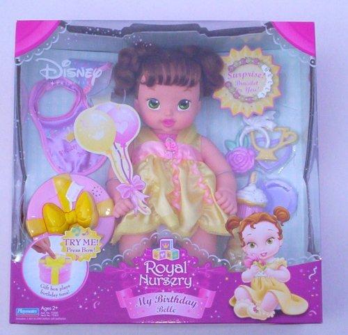 ディズニー ドール フィギュア 人形 美女と野獣 ベル Disney Royal Nursery My Birthday Belle Princess Baby Doll
