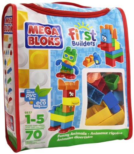 【年中無休】 メガブロック バッグ 6637 ファニーアニマルズ ファニーアニマルズ バッグ 動物 Mega Bloks メガブロック First Builders Funny Animals (Bag), アジアンギャラリー:b5f46671 --- kventurepartners.sakura.ne.jp