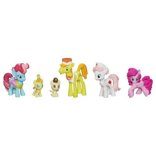 マイリトルポニー フィギュア 人形 ドール ケーキファミリー ナースレッドハート ピンキーパイ ミニコレクションセット My Little Pony Cake Family Babysitting Fun Mini Collection Set