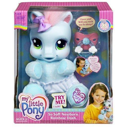 マイリトルポニー フィギュア 人形 ソフトドール ラリティ My Little Pony So Soft Newborn Pony - Rainbow Dash