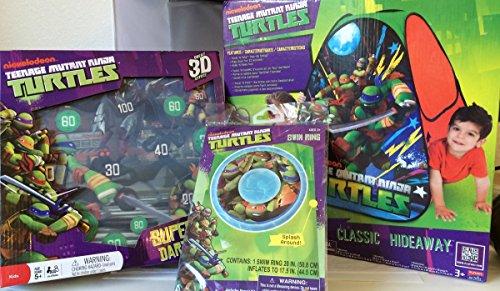 【1着でも送料無料】 プレイハット Includes テント キッズ Turtles 子供 ティーンエイジ・ミュータント・ニンジャ・タートルズ Up Teenage Mutant Ninja Turtles Sport Pack Set: Includes Pop Up Tent, Super 3-D Dartboard, One Swim Ring, 武儀町:ffd4e39c --- bungsu.net