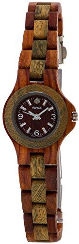テンス 時計 レディース 腕時計 木製 Tense Sandalwood Green Round Mini Northwest Bracelet Wood Watch L4300SG-W Ladies