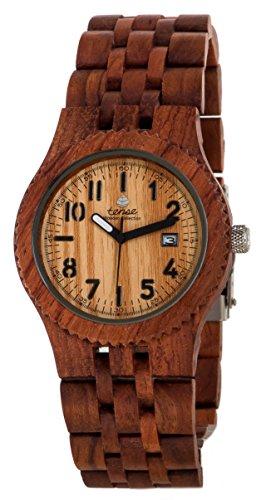 テンス 時計 腕時計 木製 Tense Discovery Yukon Jumbo Round Rosewood Wooden Watch J5200R LF