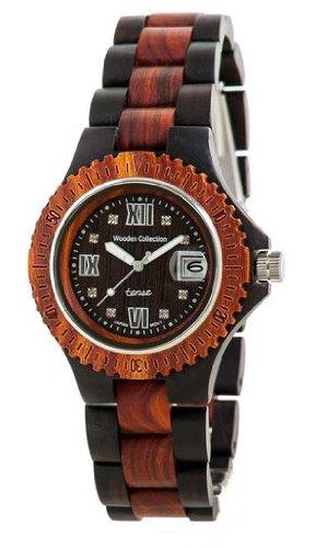 テンス 時計 レディース 腕時計 木製 Tense Two-Tone Sandalwood Wood Watch Roman Ladies L4100DS RNDF