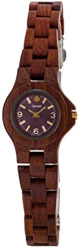 テンス 時計 レディース 腕時計 木製 Tense Sandalwood Round Mini Northwest Bracelet Watch L4300S Violet Ladies