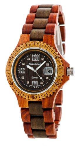 テンス 時計 メンズ 腕時計 木製 Tense Wood Discovery Compass Watch Sandalwood/Green Mens Roman G4100SG RNDF